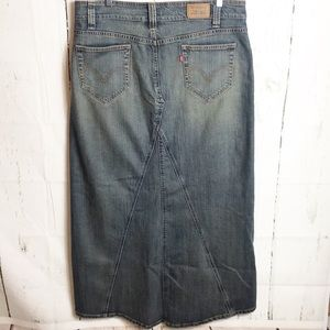 Levi Denim Maxi Skirt Size 12